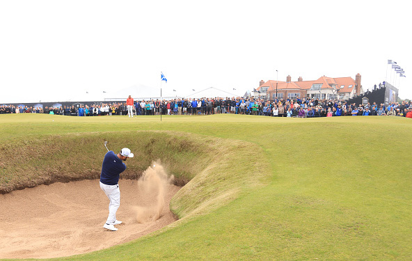 Jon Rahm Bunker Shot Scottish Open
