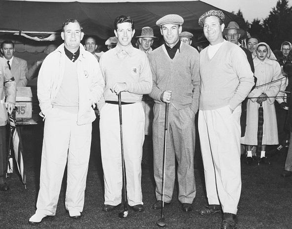 Fred Daly, Ken Bousfield, Ben Hogan and Jimmy Demaret