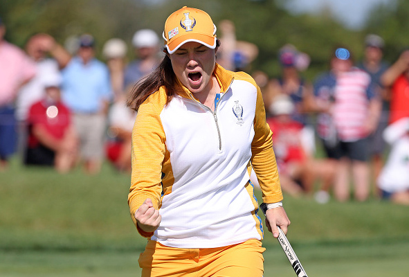 Leona Maguire Solheim Cup Day 1