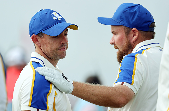 Team Europe's Shane Lowry and Rory McIlroy 2021 Ryder Cup
