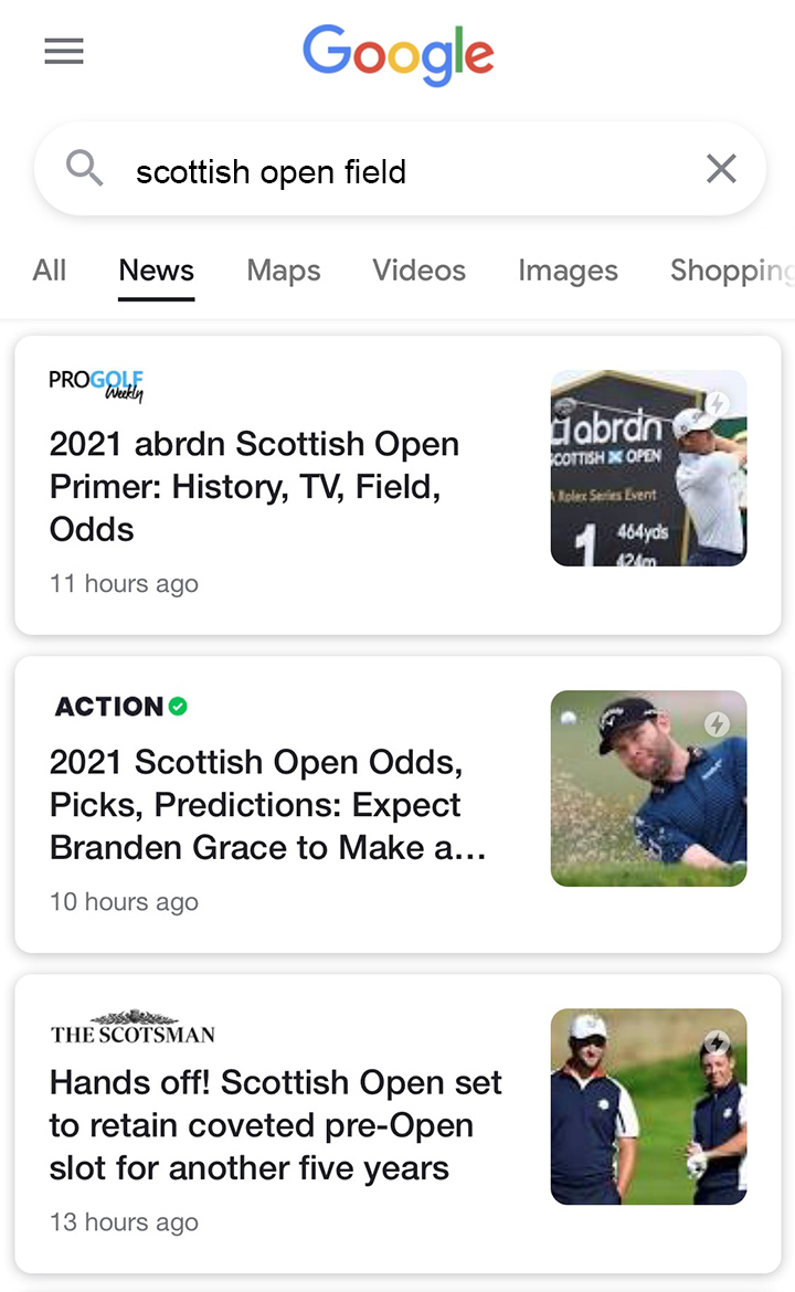 Pro Golf Weekly Scottish Open Coverage